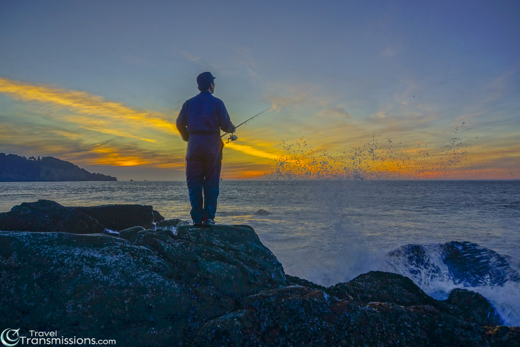 Fisherman at Baker's Beach